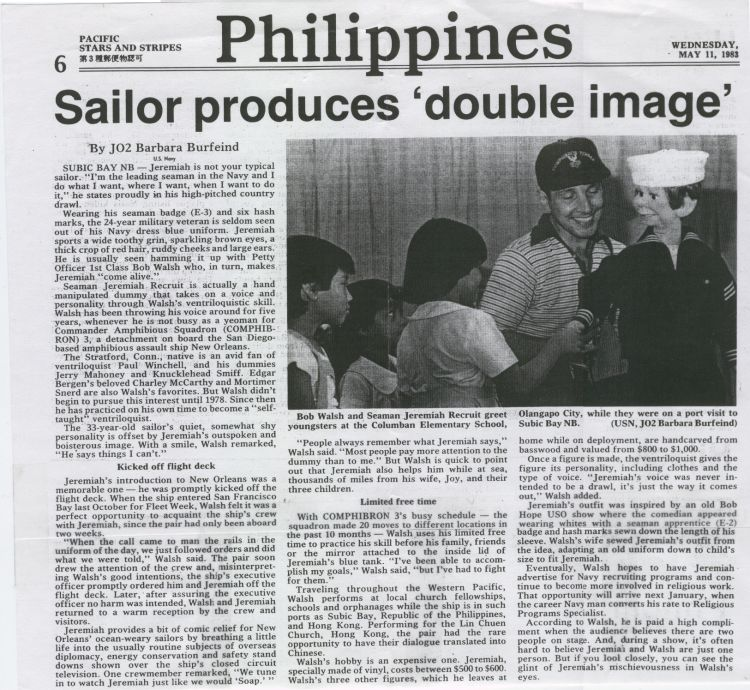 In the Philippines Sailor produces 'double image' May 11, 1983